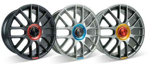 "Smart SD Tec Diamond Racing 18x8"" SDT Diamond Racing, Matt Black, Hi-Power Silver und Gunmetal"